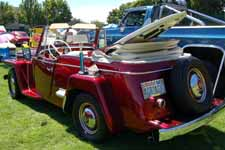 Highly detailed 1950 Willys Overland Jeepster Sports Phaeton has won multiple show trophies