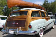 Photo of 1951 Buick Super Estate Wagon, showing beautiful wood tailgate