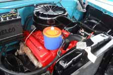 Bone Stock V8 265ci Motor in 1955 Chevy Nomad Station Wagon