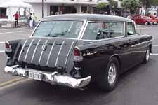 Chrome Spears on 1955 Chevy Belair Nomad Wagon Tailgate