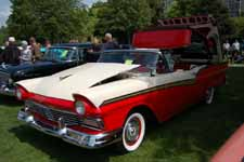 Iconic 1957 Ford Fairlane 500 Retractable Hardtop Painted Flame Red (M0640)