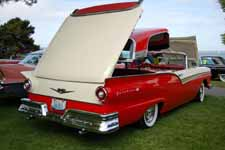 1957 Ford Retractable Hardtop Restoration in Stock Red and White Paint Colors