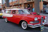 Awesome 1958 Edsel Roundup 2 Door Station Wagon is a cool beach cruiser for sure!