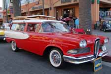 Awesome 1958 Ford Edsel Roundup 2 door Station Wagon at Huntington Beach Cruiser Meet