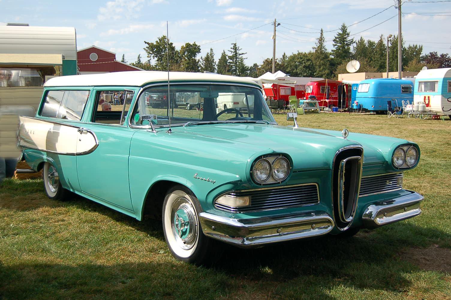 Beautifully restored 1958 edsel roundup 2 door station wagon