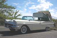 Iconic 1958 Ford Fairlane 500 Retractable Hardtop Painted Colonial White #M0755