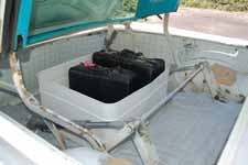 Classic 1958 Ford Skyliner Restoration Showing Luggage Tub Trunk Area
