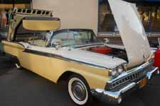 Beautifully restored 1959 Ford Galaxie Retractable Hardtop painted Stock Inca Gold (#M0641) and Colonial White (#M0524) colors