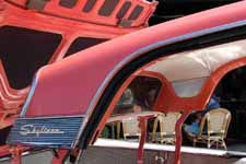 Restored 1959 Ford Galaxie Skyliner retractable hardtop in factory Geranium (M1018) paint color