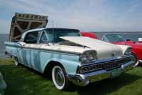Restored 1959 Ford Galaxie Skyliner Retractable Hardtop in Colonial White #M0755 and Wedgewood Blue #M1012