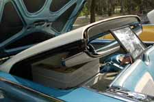 Ingenious hinged top folds into the trunk in a 1959 Ford Galaxie Skyliner retractable hardtop classic