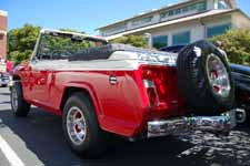 1968 Jeepster Commando Convertible was re-painted in factory correct Glacier White (396) and President Red (398) colors