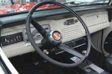 Photo shows 1968 Jeepster Commando with a very original dashboard, instruments and steering wheel