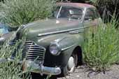 Very original and restorable 1941 Buick coupe at vintage car storage lot