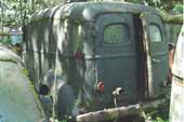 Cool rear doors on 1930's Ford panel truck found in classic car junk yard