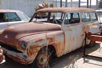 Project cars and trucks found in vintage car junk yards and wrecking yards